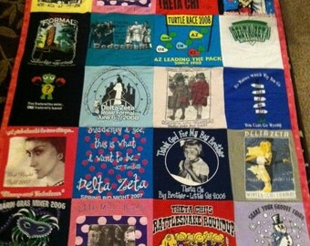 Your 28 Shirts Sorority Quilt