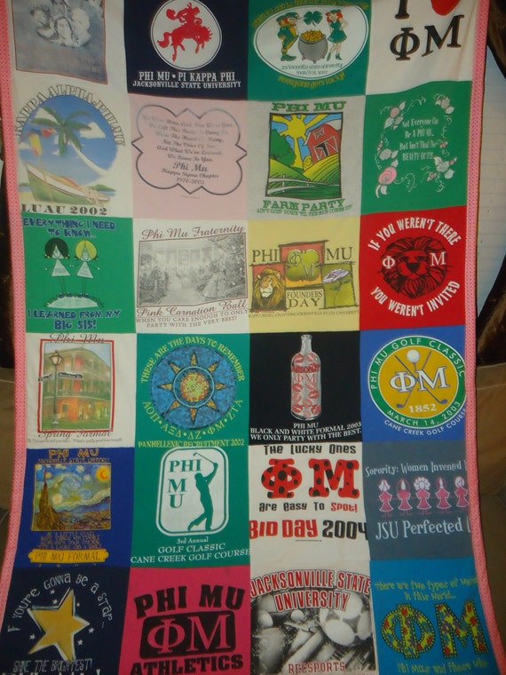 Your 28 Shirts One Space saving  Quilt