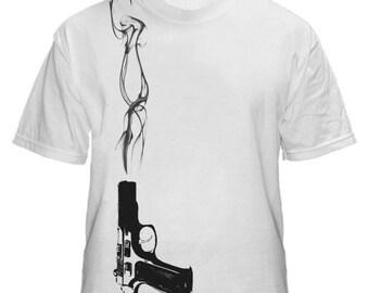 Smoking Gun Mens White Tshirt S M L XL XXL