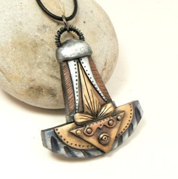 Thors Hammer Medieval All Seeing Eye of Providence Amulet