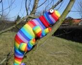 Sock chameleon, sock animal, soft sculpture, plush, Leon