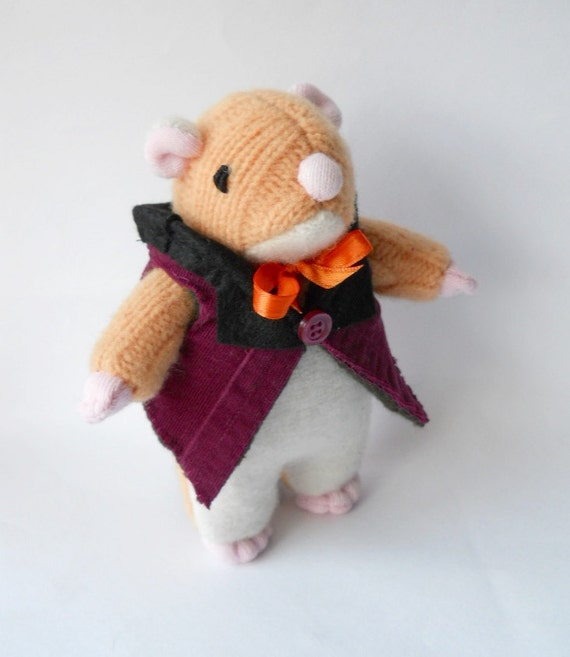 RESERVED LISTING for Helen Clancy recycled wool sweater animal doll  plush called  Haffertee