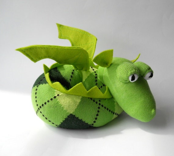 RESERVED LISTING for LARA Laderoute dragon  sock animal sculpture called  Duncan