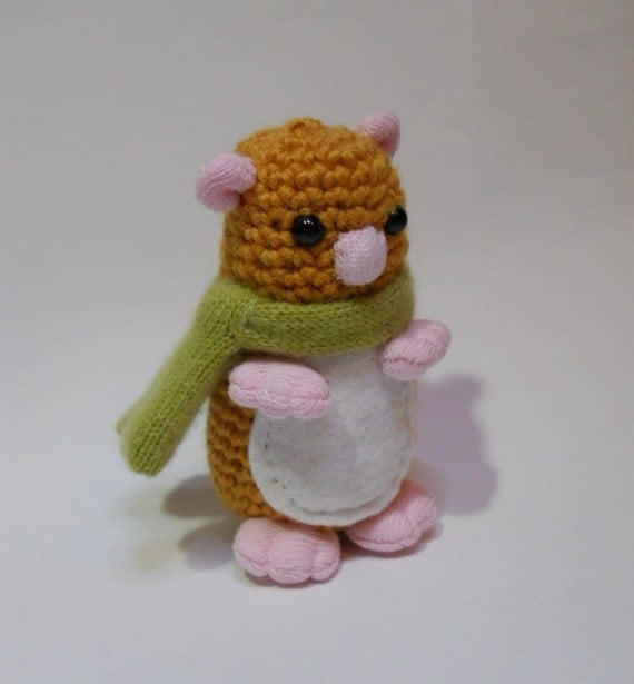 Amigurumi Wool : sale Amigurumi crochet animal hamster wool by ...