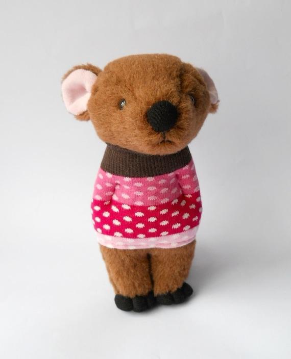 sale  bear ooak artist designed plush creature stuffed animal doll called Rosie