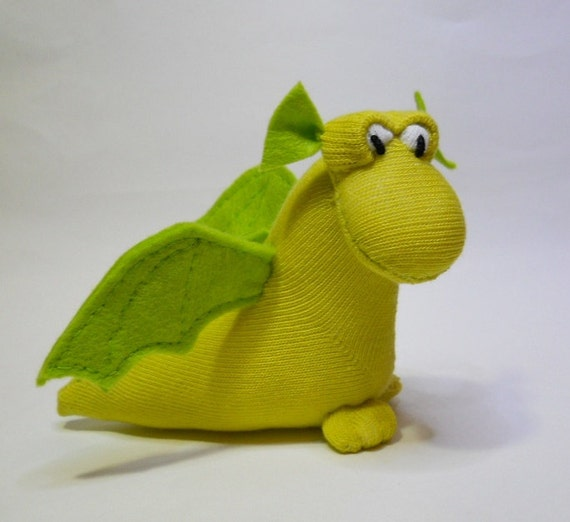 sock animal plush dragon stuffed animal fantasy monster mythical beast  called  Idris