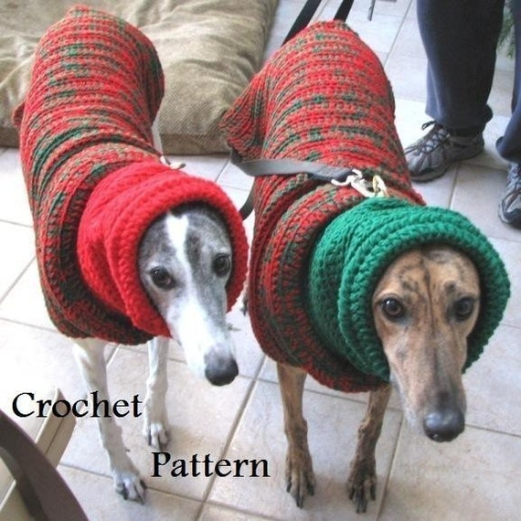 Knitting Patterns For Greyhound Sweaters : Items similar to PDF Crochet Pattern for Greyhound Sweater ...
