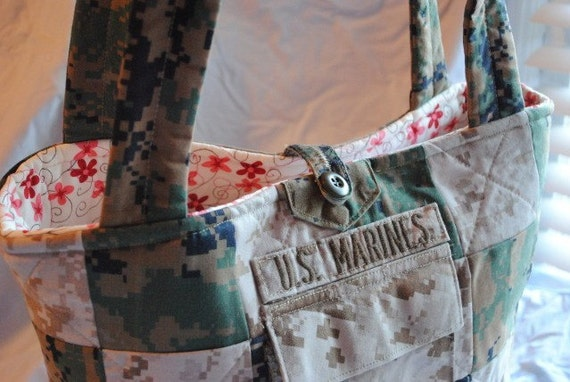 Marine Corps Tote or Diaper Bag Made to Order