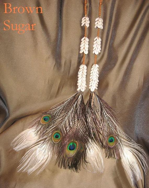 Tribal Fusion ATS Cowry Hair Falls, Brown Sugar