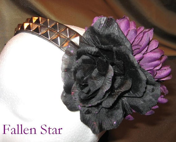 Tribal Fusion Bellydance Head band, Fallen Star REVERSIBLE
