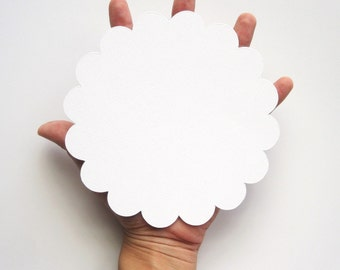 16 Big Scalloped Circle for banner (5.0 inches) Scalloped Circles inTextured Cardstock A91