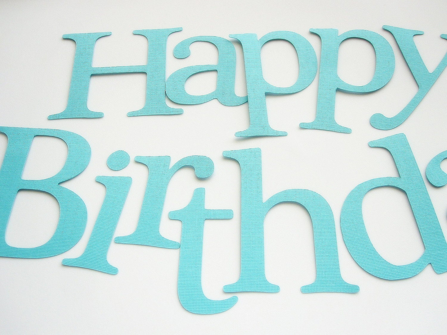 Die Cut Letters Happy Birthday Die cut Letters for Banner