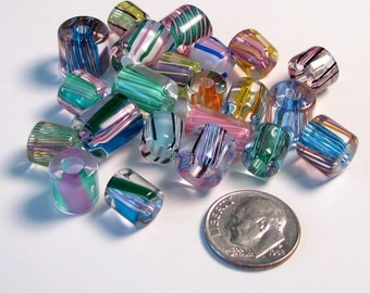 Pastel Assortment of David Christensen Furnace Glass Beads - 1 OUNCE
