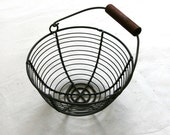 Rust Steel Round Wire Basket