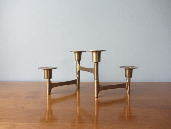 RESERVED Collapsible Brass Candle Holder Many Style Options 1960s 1970s