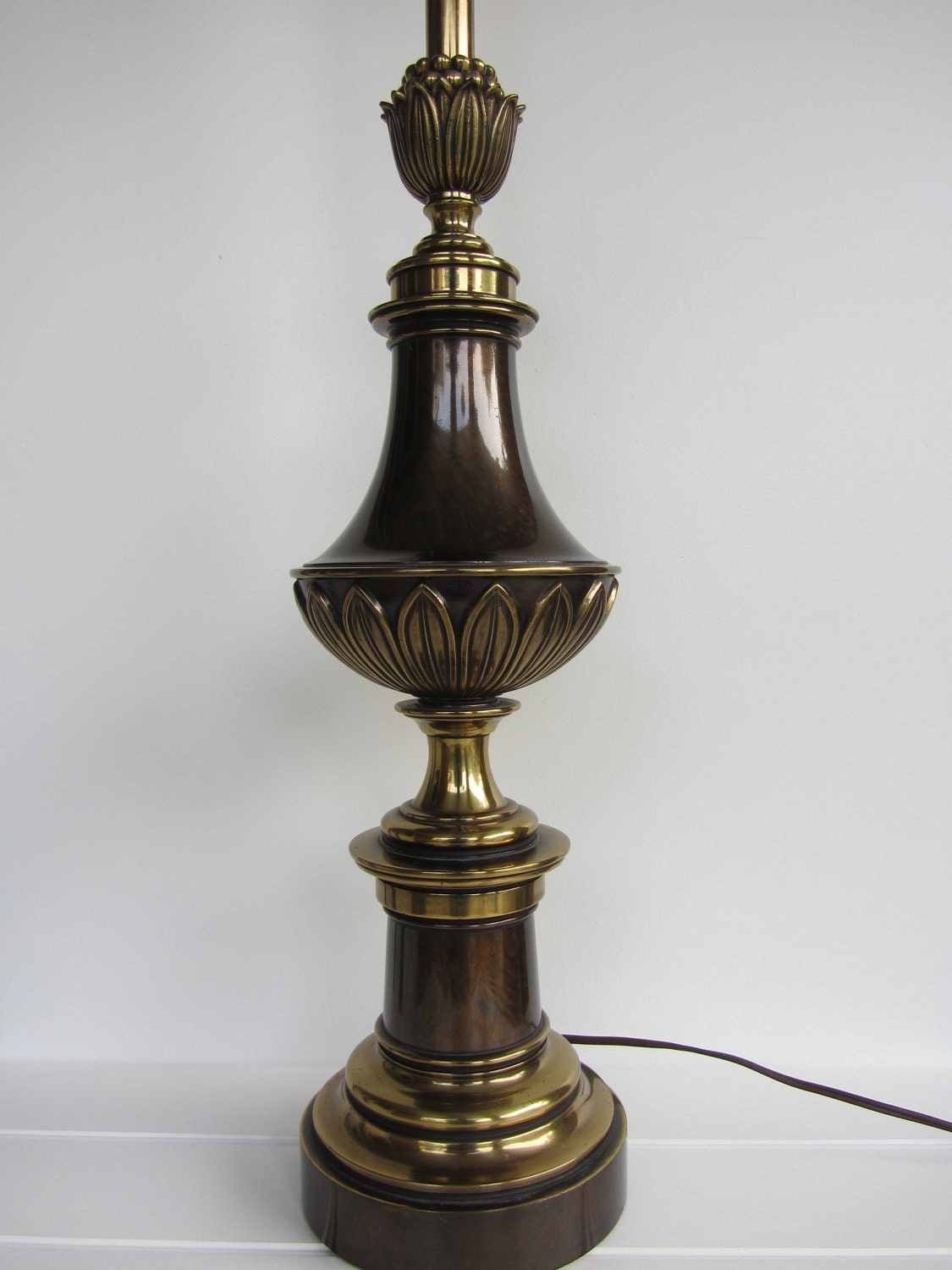 RESERVED Brass Lamp Hollywood Regnecy By Stiffel Table Lamp