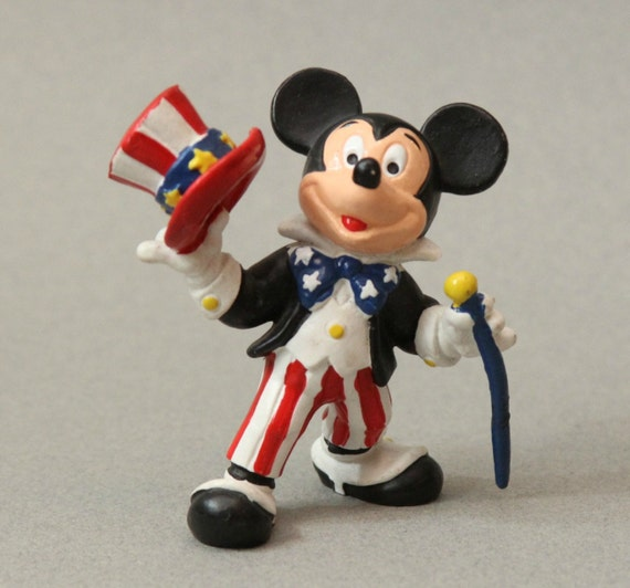 Mickey Mouse Figure as Uncle Sam Red White and Blue
