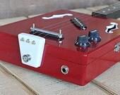 3-String 'Alec Bradley Red' Hollow-Body Electric Cigar Box Guitar (reserved for Bob)