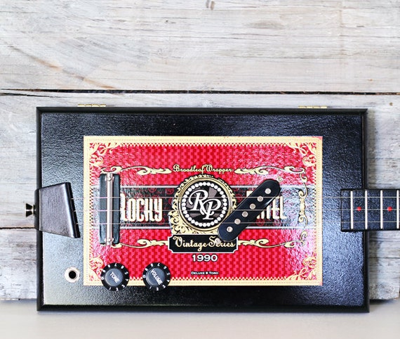 Cigar Box Guitar - 3-String 'Rocky Patel' Hollow-Body Electric No. 83
