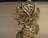 Elegant Fowl - A Vintage-Inspired Owl Necklace