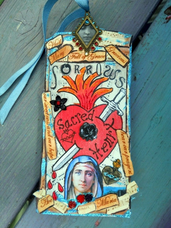 Virgin Mary Sorrowful Mother Joys and Sorrows of Life Holy Tag Free Shipping Us