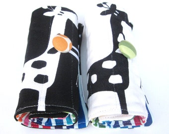 Two Crayon roll-ups for twins.
