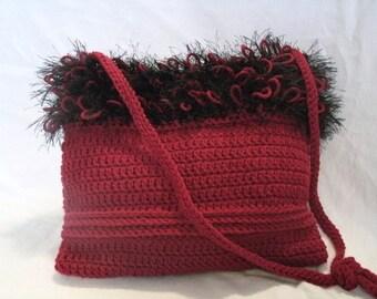 Crocheted Purse, handbag, victorian clothing, steampunk clothing, boho clothing, hippie clothing, gypsy clothing, bohemian, boho chic purse
