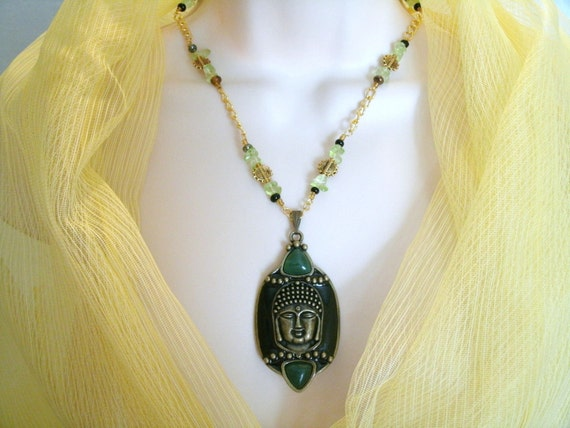 Opening Enlightenment Buddha Necklace, buddhist, zen pagan jewelry metaphysical new age mystical spiritual meditation magical wiccan reiki