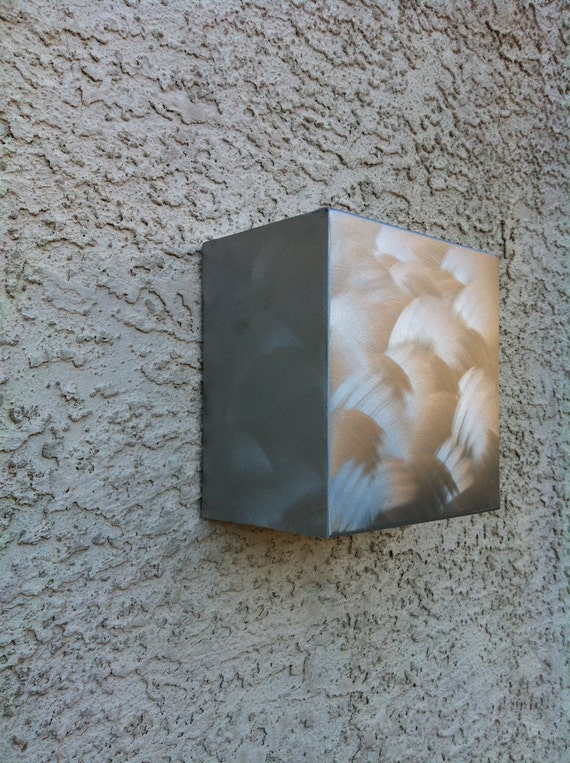Contemporary Modern Abstract Metal Wall Art Cube By: April Parke