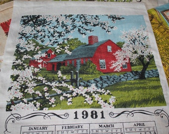 Vintage Cloth  Calenders 1960s,1970s, 1980s ---Lot of 19   Like New