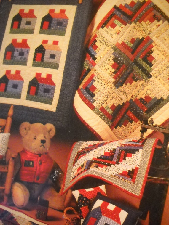 Log Cabin Doll Quilts   Miniture Quilts and Pillows