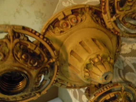 Antique Light Fixture Art Nouveau Salvaged Lighting