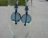 CLEARANCE - Translucent Ocean Blue - Bead Drop Earrings