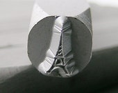 Eiffel Tower - Hand Metal Design Stamp-Measures approx 6  mm-   Metal Design Stamp-Metal Stamping Supplies for Personalized Jewelry