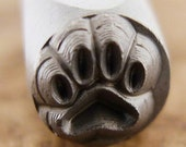 Paw Print Stamp-Measures approx 6mm-   Metal Design Stamp-Metal Stamping Supplies for Personalized Jewelry