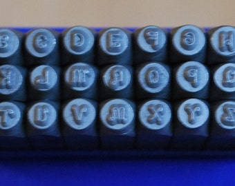 Metal Stamp Set Verona-2 MM Upper Case Curly Font Alphabet Set- Steel Stamps for Metal -Personalized Jewelry-New Smaller Size