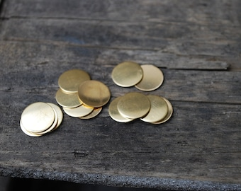 Stamping Blanks-1/2 inch round Brass- 10 pack 24g. Great for your Jewelry Stamping Needs-