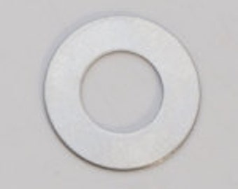 """Nickel Silver-24ga- 3/4"""" WASHER 3/8"""" ID- PK/6-Eurotool-Great for your Jewelry Stamping Needs-Stamping Blanks for Personalized Jewelry"""