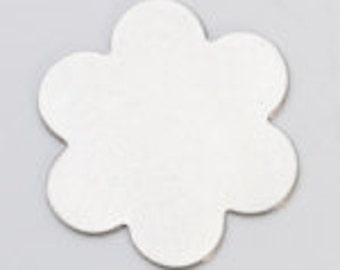 "Nickel Silver 24ga- 7/8"" 6-PETAL FLOWER-PK/6-Eurotool-Great for your Jewelry Stamping Needs-Stamping Blanks"