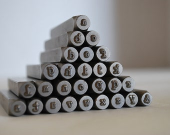 Metal Alphabet Stamp Set-3mm-Lowercase Typewriter Font Alphabet Letter Stamp Set-Metal Stamps for Jewelry and Metal Work