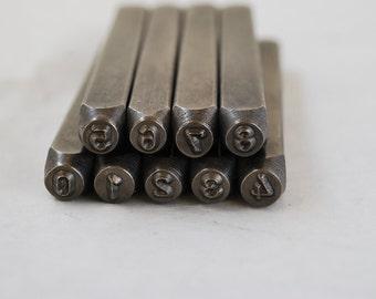 Metal Stamp Set-Metal Stamping Number Kit in 3mm (1/8th) Number Set- Hand Stamping Tools-Metal Supply Chick-Jewelry Stamping Tools