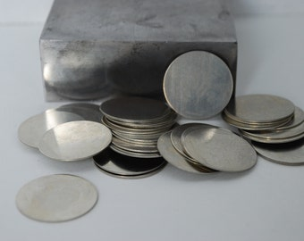 3/4 inch round Nickel Silver Discs- 10 pack 24g. Great for your Jewelry Stamping Needs-Stamping Blanks for Personalized Jewelry