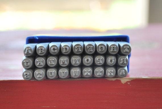 Metal Stamp Set-2 MM Uppercase Typewriter Font-Metal Stamping Alphabet--Steel Stamps-Metal Stamp Set- Make Personalized Jewelry
