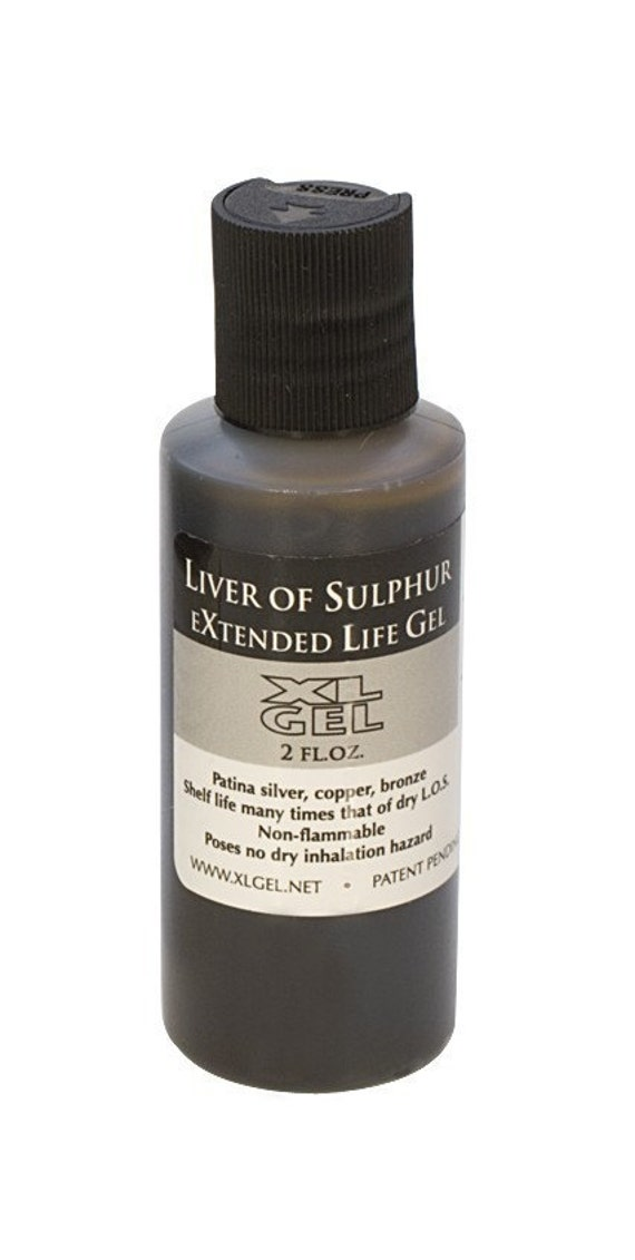 Liver of Sulphur Gel-2 oz.  Great for Metal Work and Oxidizing your Metal-