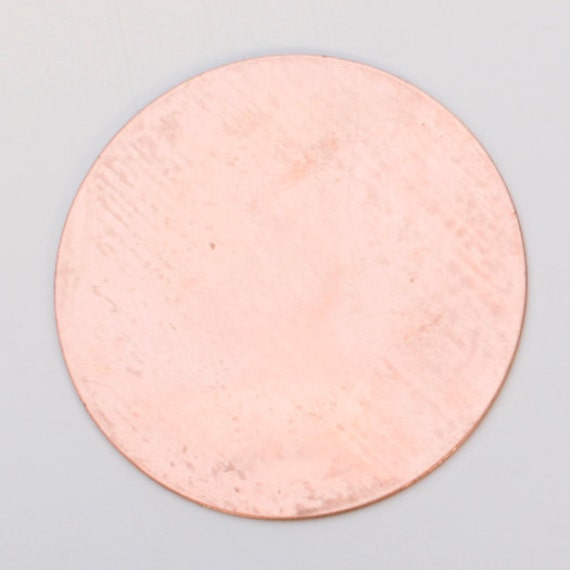 "Stamping Blank-Copper-24ga-1.25"" CIRCLE-6 PK/--Stamping Blanks for Personalized Jewelry-MSC125RN24"