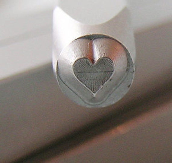 Solid Heart-Measures 3 mm-   Metal Design Stamp-Metal Stamping Supplies for Personalized Jewelry