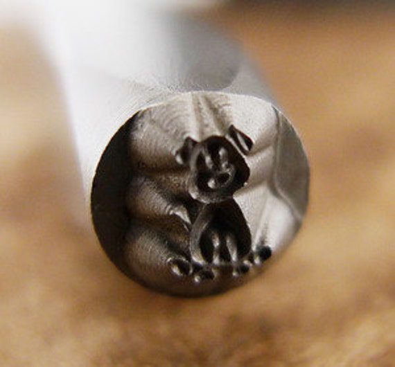 Dog Stick Figure- Design Stamp-Measures approx 4 mm-   Design Stamp-Metal Stamping Supplies for Personalized Jewelry