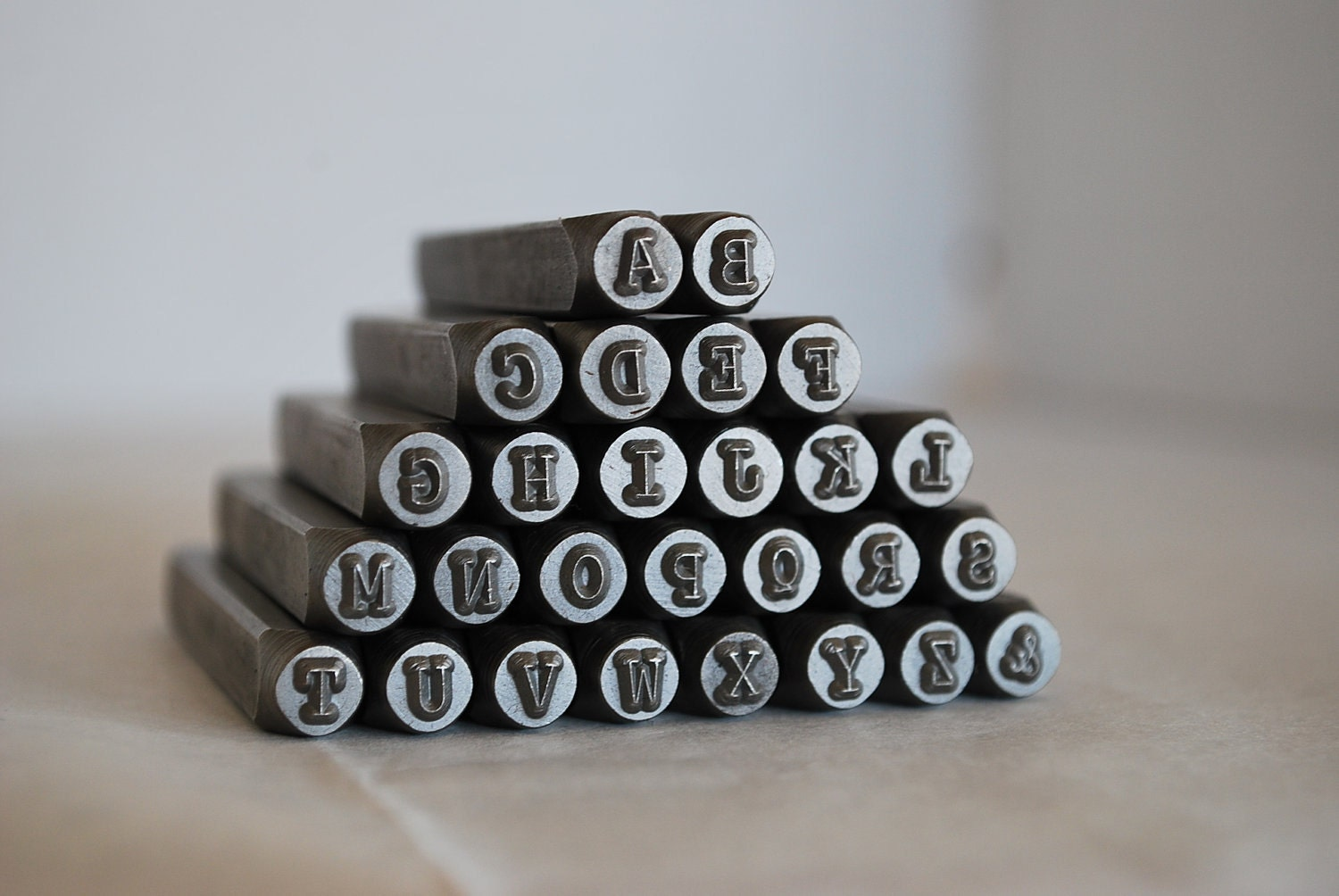 3 Mm Uppercase Typewriter Font Alphabet Letter Stamp