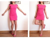 Last One size Small - Hot Pink Heart T-Shirt Dress