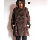 Soft Jumper dress in brown boucle